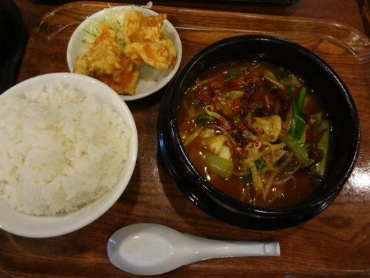 炎の餃子鍋定食