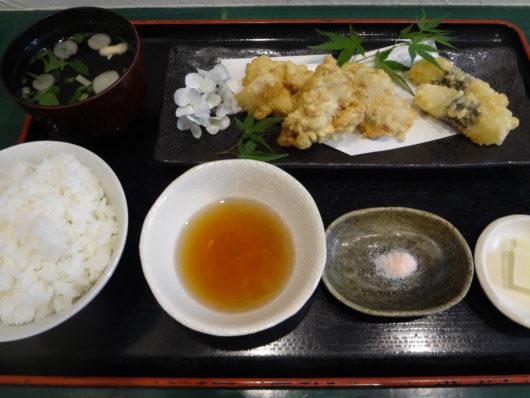 鶏と山芋短冊の天麩羅膳