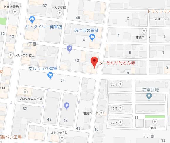 竹とんぼ 地図
