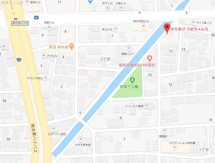 うめちゃんち地図