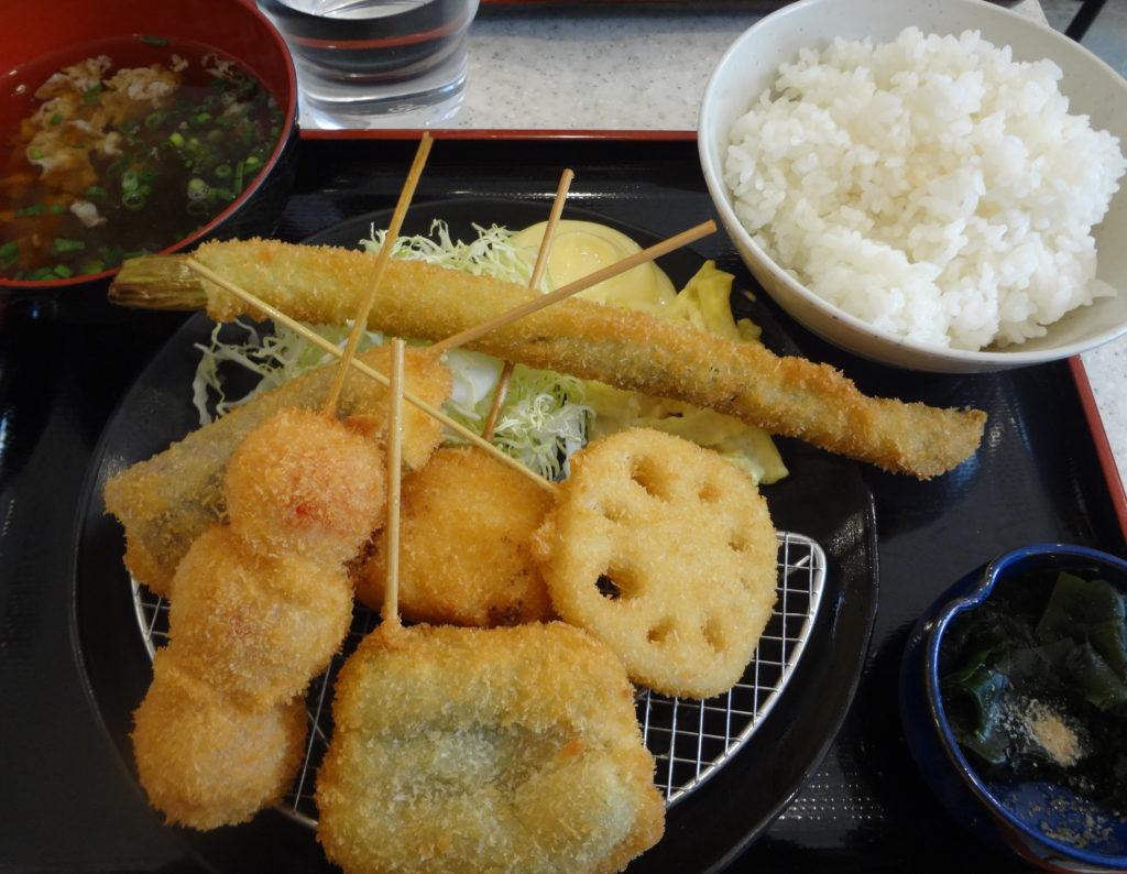 野菜串カツ定食