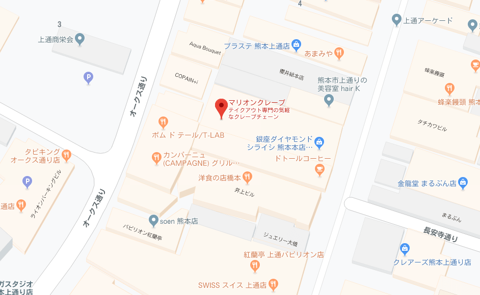マリオンクレープ地図