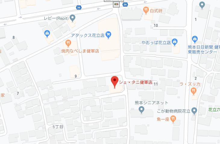 シェタニ健軍地図