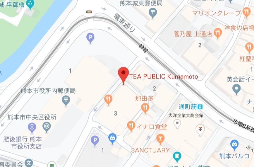 ティーパブリック地図