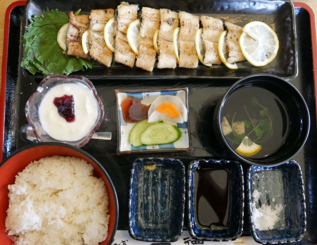 鰻の白焼きセット