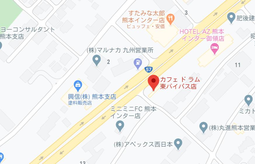 カフェドラム地図
